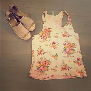 Alternative apparel cotton floral tank